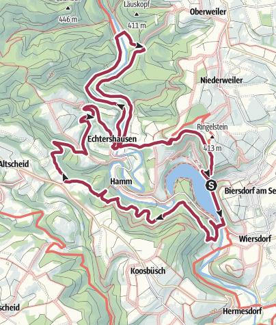 Karte / Rundwanderung Mittleres Prümtal