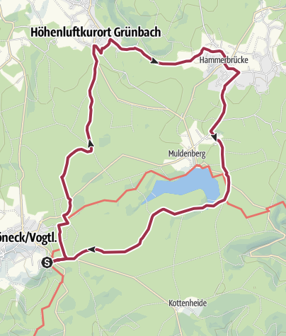 Karte / Von Schöneck durch die Wälder des Vogtlands