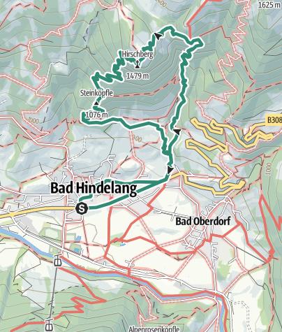 Karte / Hirschbachtobel und Hirschberg