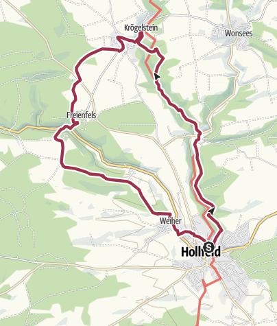 Karte / In das Felsendorf Krögelstein