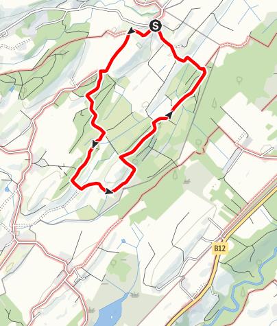 """Karte / Wanderrundweg 9: """"Von Untermooweiler zur Marienkapelle und durchs Tegernmoos"""""""