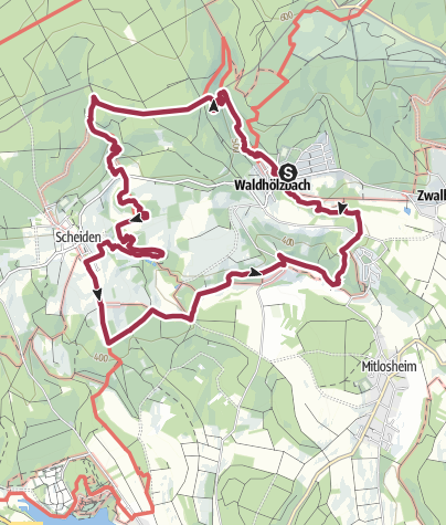 Karte / Traumschleife Felsenweg