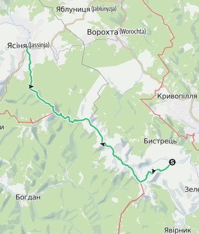 Карта / Chernogora Mountain