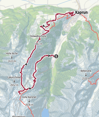 Map / Krefelderhüttenpath / Alexander Enzinger Path - Variant Wüstlau/Alpincenter/Kaprun Center