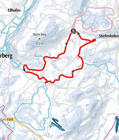 Karte / Stiefenhofen R15 Stiefenhofener-Loipe