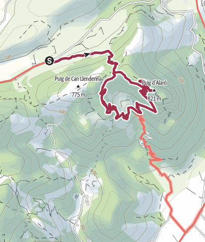 Karte / Zum Castell d'Alaró