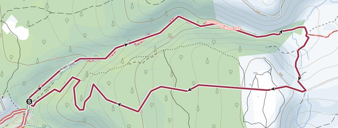 Mappa / Avakas Gorge Loop South