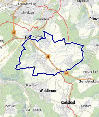 Karte / Bergdörfer Grenzweg