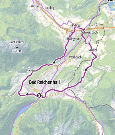 Karte / Rad: Rund um Bad Reichenhall