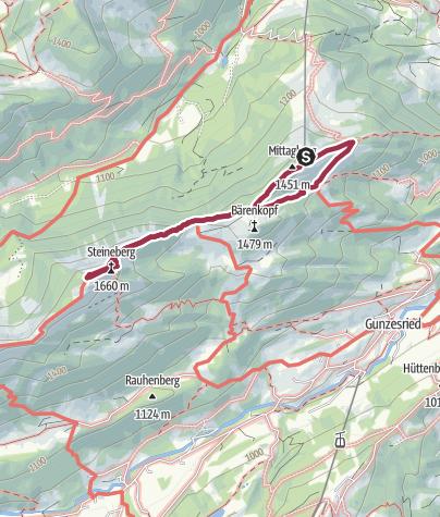 Karte / Von der Mittagbahn in Immenstadt zum Steineberg