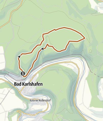 Karte / Bad Karlshafen -  Nordic Walking um die Barockstadt (Tafel 1, Strecke 2)