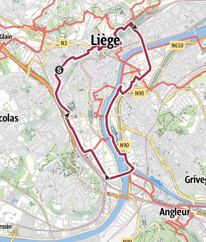 Map / liege centre vendredi 17 avr 15