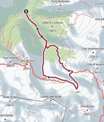 Map / Rifugio Garelli-Vallone Marguareis