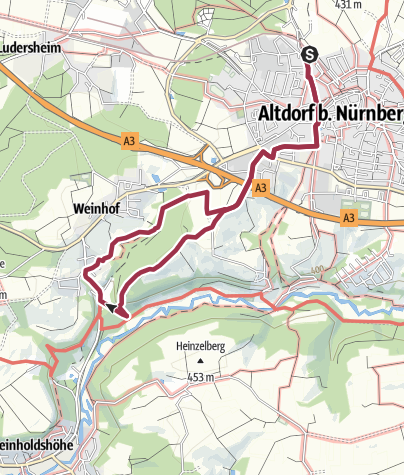 Karte / Altdorf bei Nürnberg. Rundwanderweg 4