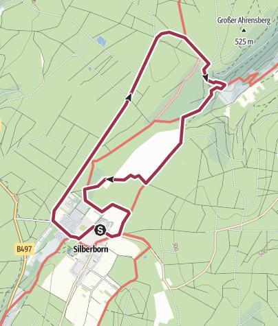 Karte / Hochmoor Mecklenbruch  - wandern mit Hund