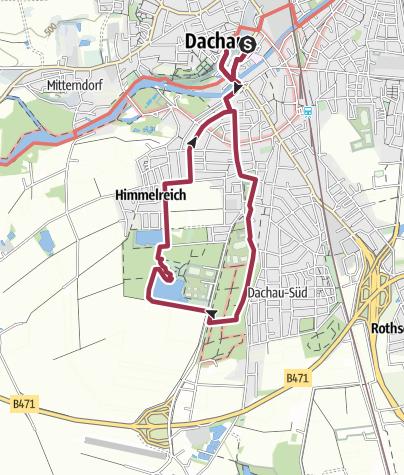 Karte / In den Dachauer Stadtwald