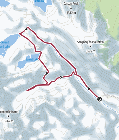 Map / Ansel Adams Route (via Ediza)