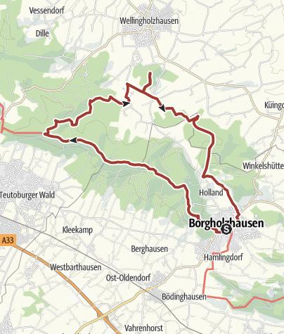 Karte / Hermannshöhen Tourentipp 07: Von Quellen und Steinen bei Borgholzhausen
