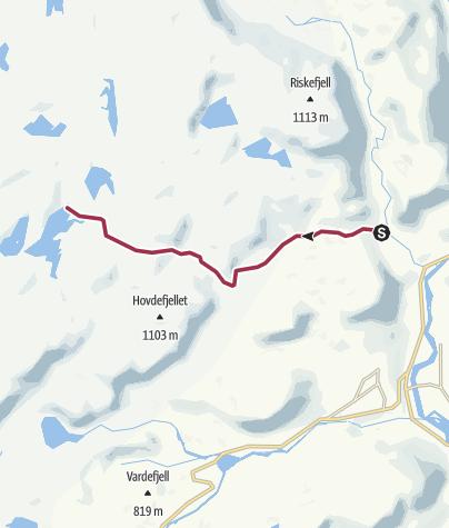 Map / Uppstad til Store Sandvatn