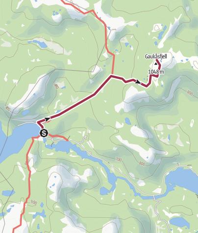 Map / Gaukåsfjell i Fyresdal kommune