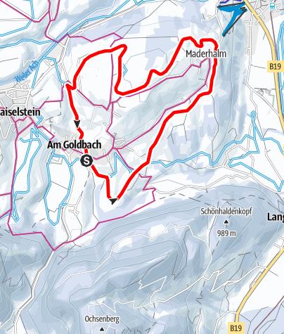Karte / Oberdorfer Loipe - Langlaufen in Obermaiselstein