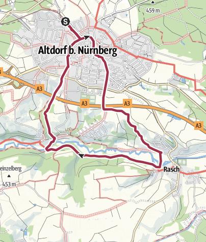 Karte / Altdorf bei Nürnberg. Rundwanderweg 5