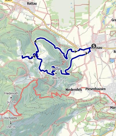 Karte / Grassauer und Rottauer Almen - genial vital Tour 1