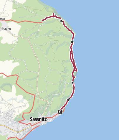 Map / Kreideküste und Königsstuhl auf Rügen