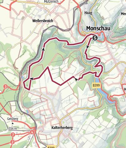 Map / Das Naturschutzgebiet Gebirgsbach Rur