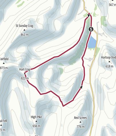 Map / Hart Crag and High Hartsop Crag