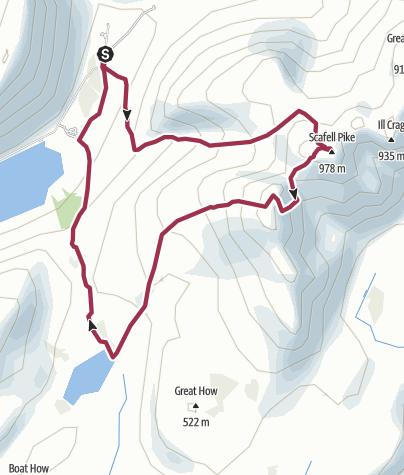 Map / Scafell Pike and Sca Fell