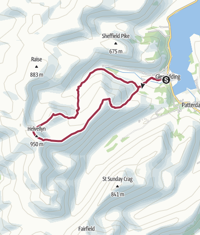 Map / Helvellyn and Catstye Cam Circular