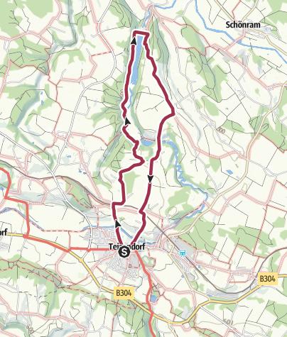 Karte / Der Stauseeweg