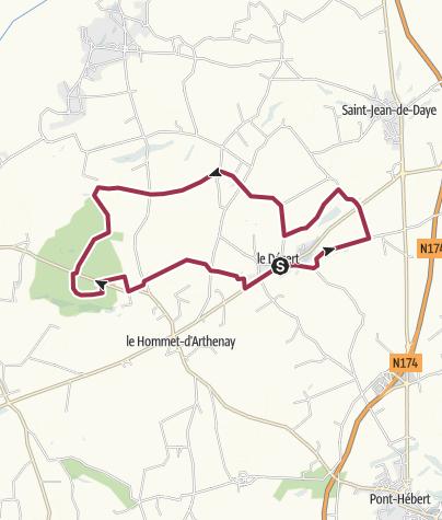 Map / Tour du Dezezrt