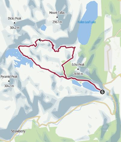 Map / Echo Lakes - 08/15/14