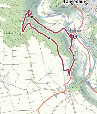 Karte / Bächlinger Panoramatour