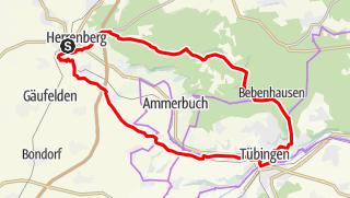 Map / Tausend Orte zum Verweilen - Durch den Schönbuch nach Tübingen