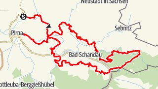 Trail on a map