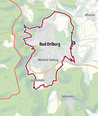 Map / Hermannshöhen Tourentipp 14: Sachsenring Bad Driburg