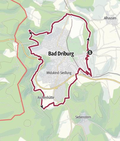 Karte / Hermannshöhen Tourentipp 14: Sachsenring Bad Driburg