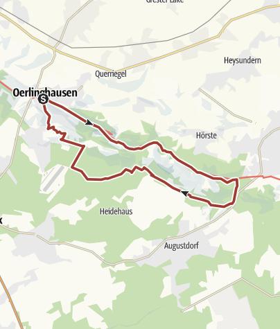 Kaart / Hermannshöhen Tourtip 10: Door het zand van de Senne