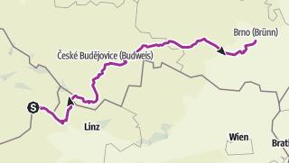 Karte / Passau - Brünn