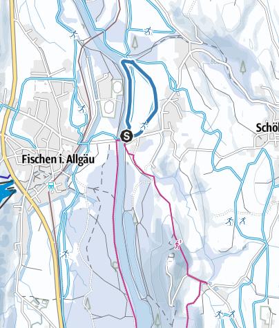 Karte / Eybach Loipe - Langlaufen in Fischen