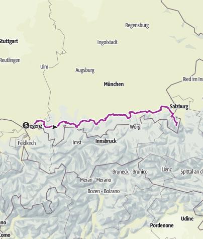 Map / Bodensee-Koenigssee-Radweg