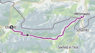 מפה / .Ehrwald-Mittenwald durchs Gaistal