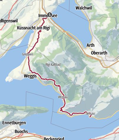 Map / The Rigi Lehner's Path