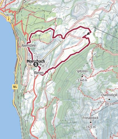 Map / Rundwanderung auf dem Panoramaweg Morschach