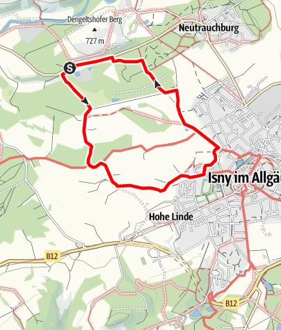 Karte / Isny - Moorrunde
