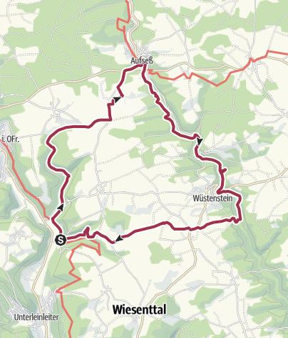 Karte / Von Veilbronn ins Aufseßtal