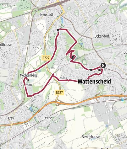 Karte / Zwischen Halde Rheinelbe und Mechtenberg